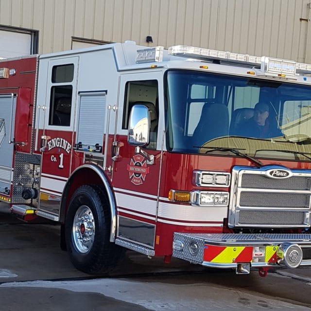 New Fire Truck arrives in Richmond