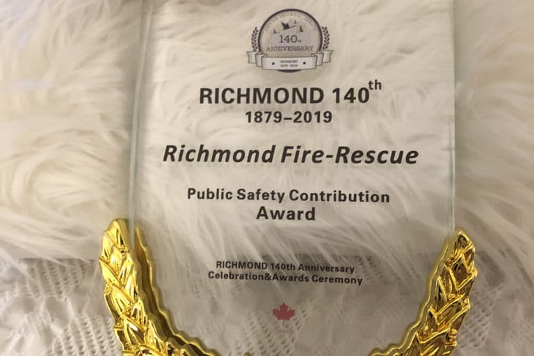 Richmond Fire-Rescue wins Community Safety Award