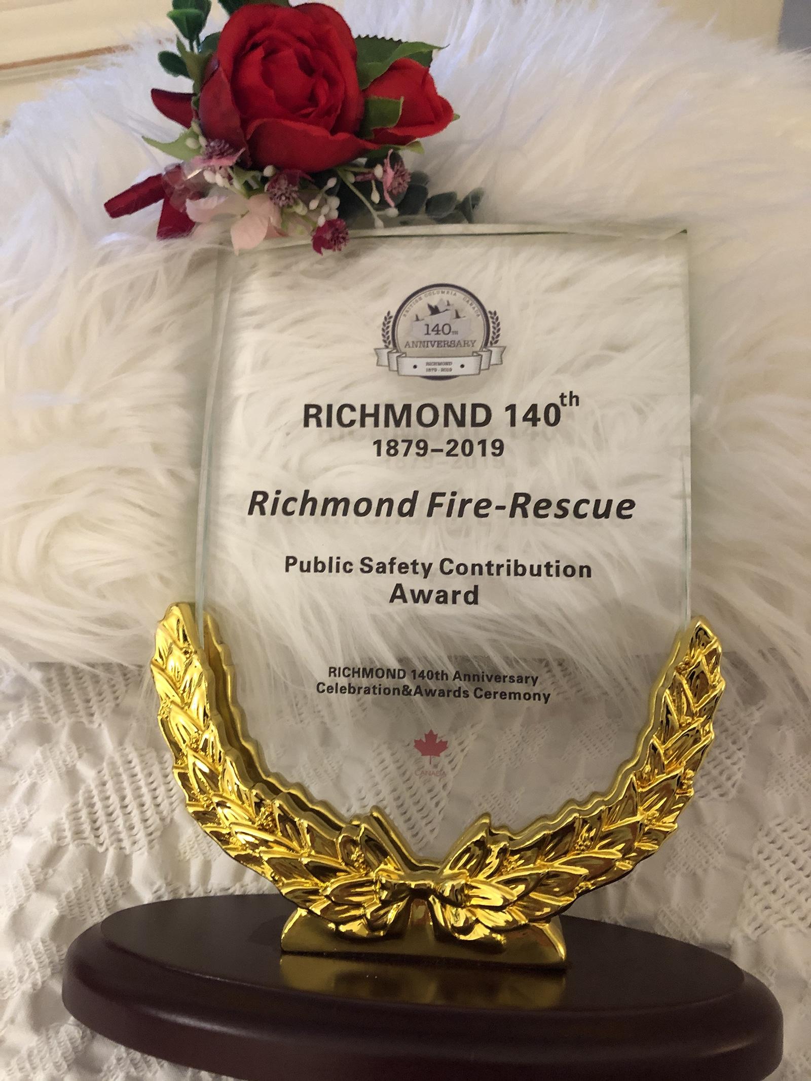 Richmond Fire-Rescue wins Community Safety Award