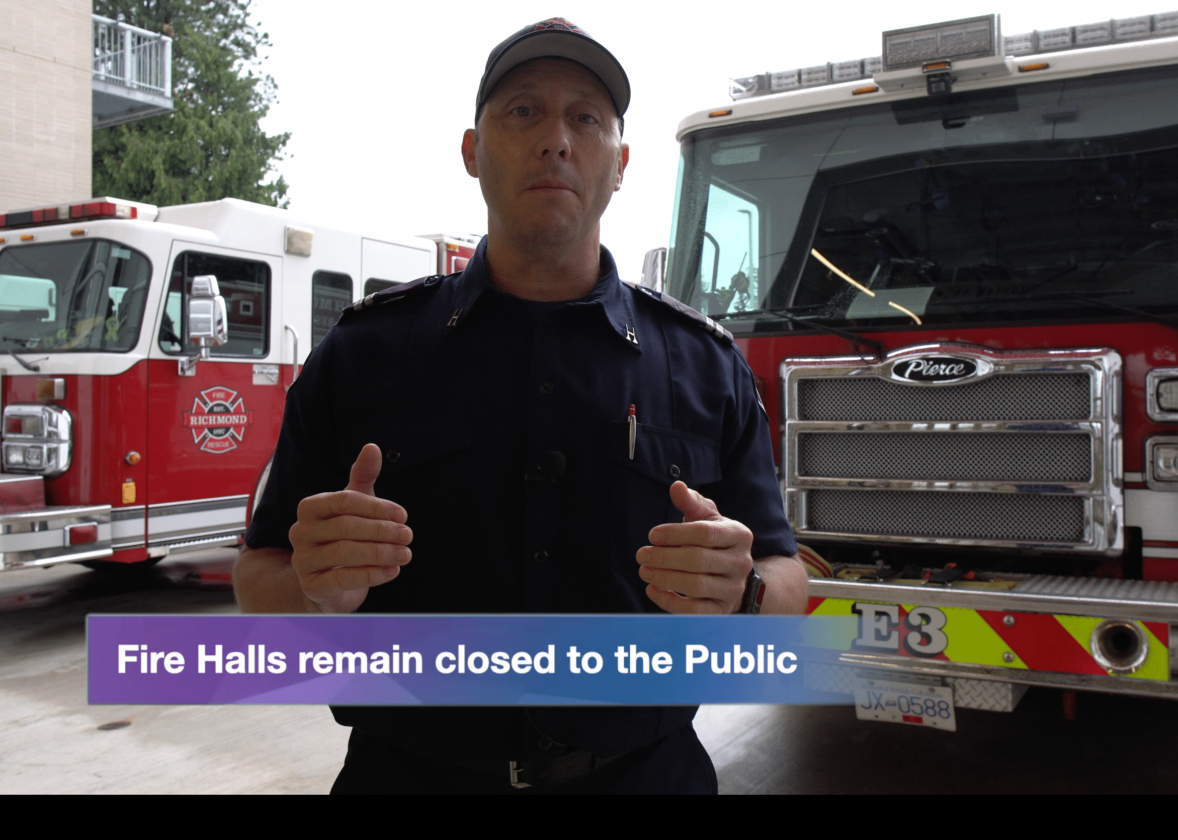 Vlog #8 – Fire Halls remain closed to the public