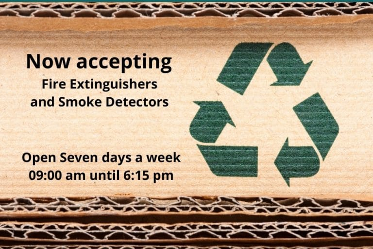Richmond Recycling Depot now accepting Fire Extinguishers and Smoke Detectors