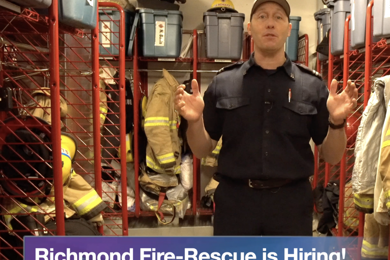 Vlog #12 – Richmond Fire-Rescue is Hiring!
