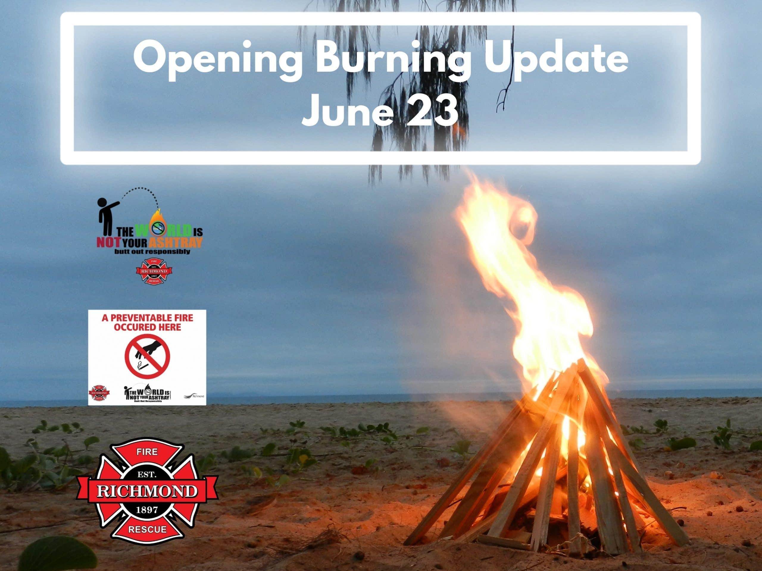 VLOG #20 – Opening Burning Update